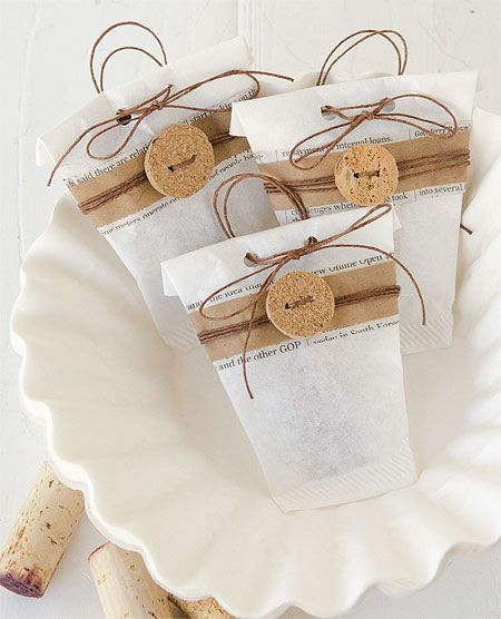 Coffee Filter Treat Bags - DIY craft idea for party favor, small gift wrap bag- paper craft idea. Or to add small things with gifts, gifts from the kitchen and in gift baskets