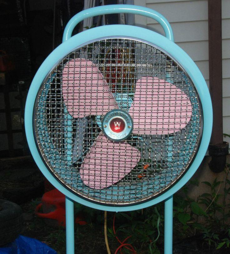 Antique Vintage Fan Westinghouse Mobilaire Ma 4020 1950s