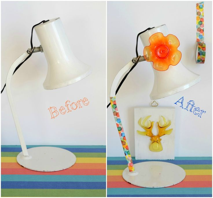 How to decorate a vintage lamp
