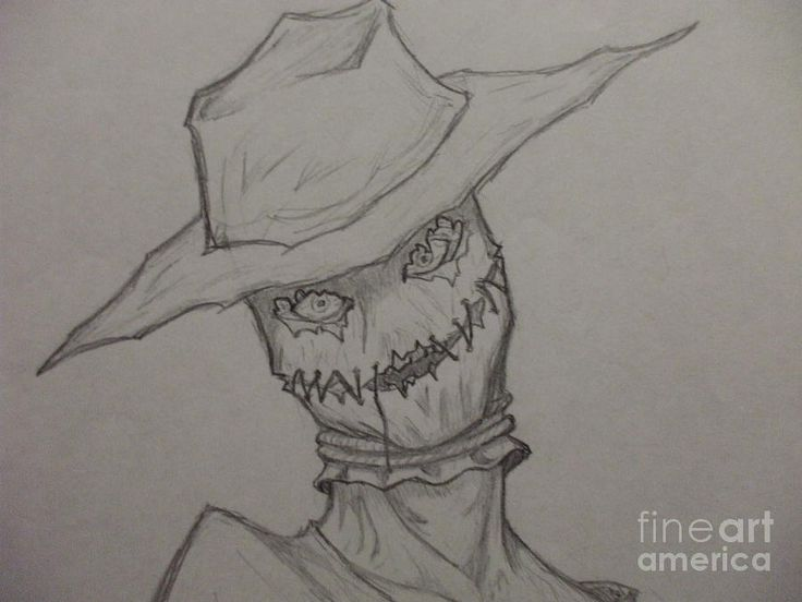 scary drawings scary scarecrow art evil