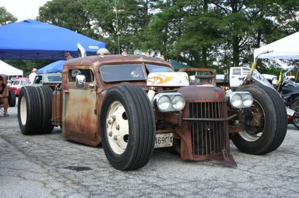 how to make a rat rod look rusty