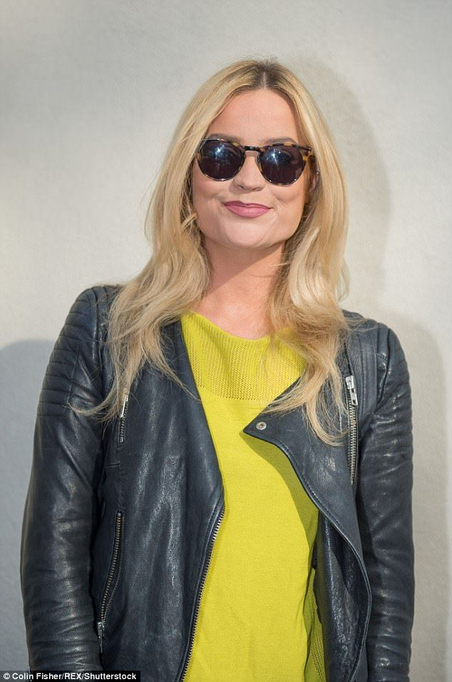 Mellow yellow: Laura Whitmore brought a spring vibe to the Theatre Royal in Glasgow, Scotland, as she left her performance on Saturday
