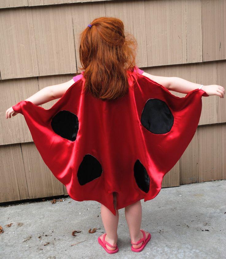 Handmade Child Cape Lady Bug Costume  Halloween Photo Prop Red. $25.00, via Etsy.