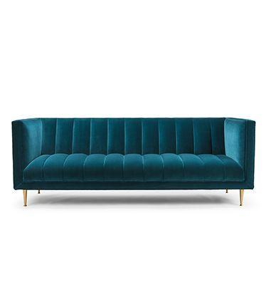 Teal velvet sofa - 5. Channeled Upholstery | Deco Style FLEURE-SOFA-04.jpg