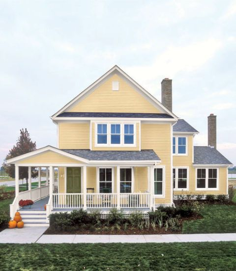 25 Best Yellow Colonial Images On Pinterest Yellow Houses Black Shutters And House Exteriors