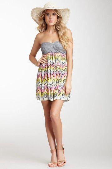 Billabong Strapless Ikat Dress