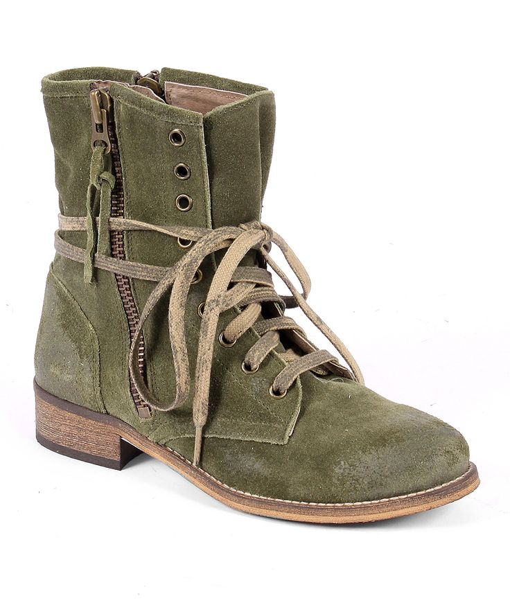 MTNG Olive Hanna Suede Boot | zulily