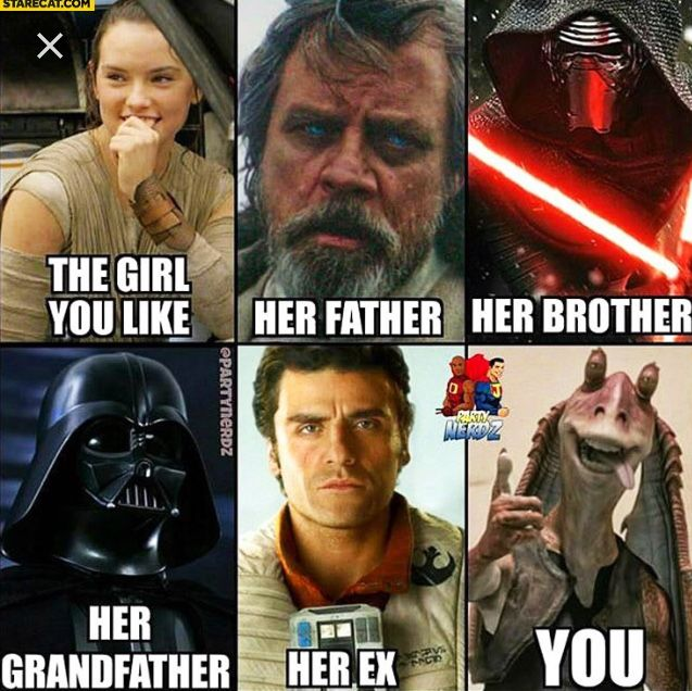 Totally inacurate but cool!! i'd prefer finn instead of Jar Jar though