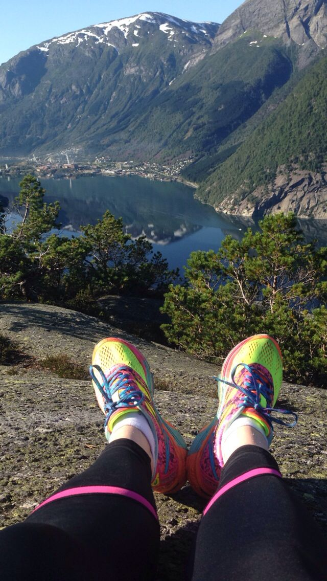 From my hiking trip to Lilletopp(Tyssedal). Love my Asic shoes