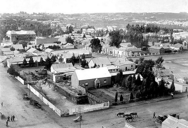 Somewhere in what would later become the city centre of Johannesburg, circa 1896 (With acknowledgement to Friedel Hansen)