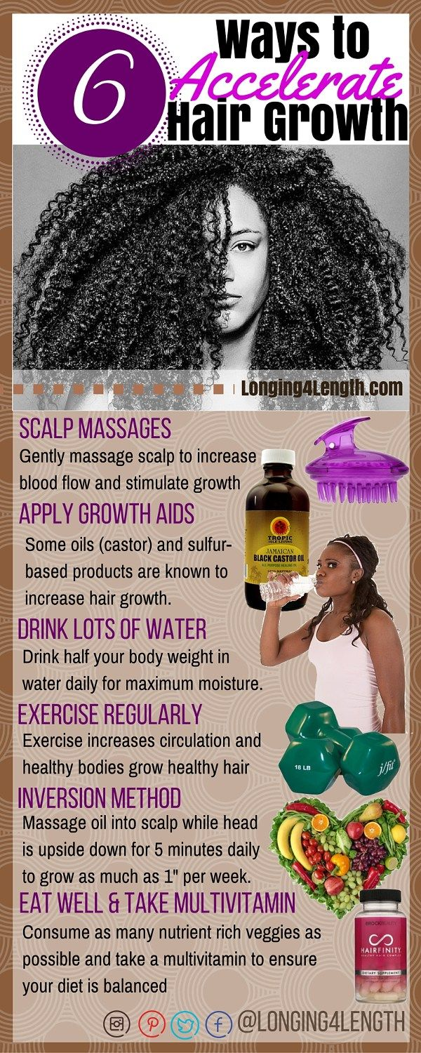 #L4LHair Tip Tuesday - Ways to Accelerate Hair Growth for Natural Hair, How to Increase Hair Growth Natural Hair, How to grow long relaxed hair, how to grow long natural hair