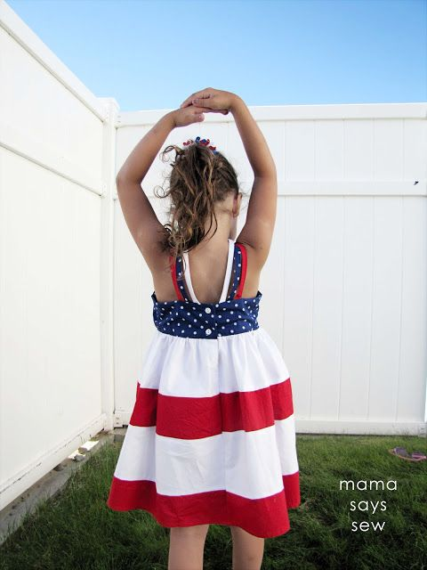 mama says sew: Strappy Sundress Tutorial  I would love to make this for my girls!