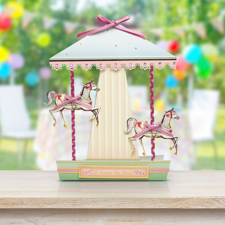 Card made using the 'Magical Merry Go-Round' luxury topper set from Birthdays for Her by Hunkydory Crafts