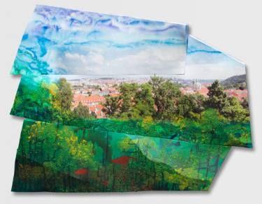 "Saatchi Art Artist Paul Brandejs; Painting, ""Red Roofs"" #art"