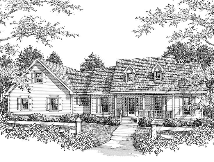 Eplans Farmhouse House Plan One Story Traditional 1841