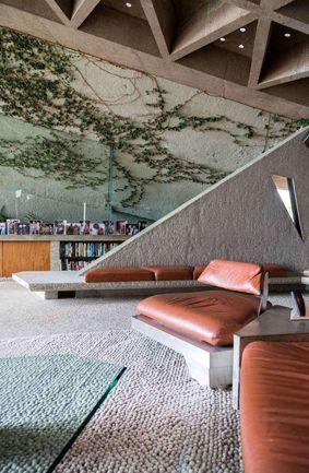 KAGADATO selection. The best in the world. Loft interiors design. **************************************John Lautner, Goldstein House, LA