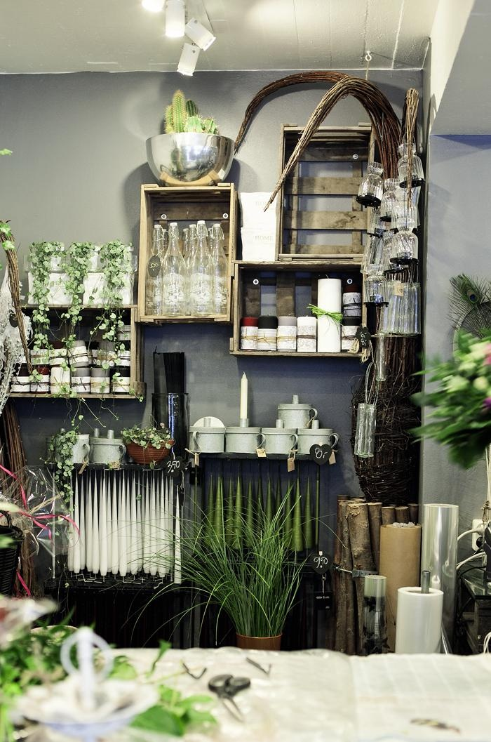 flower shop - wall crates