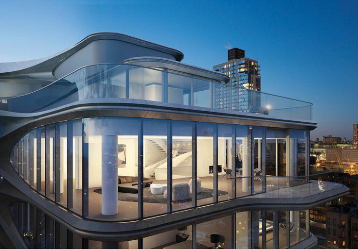 New York, Zaha Hadid, appartementencomplex, Manhattan - Zaha Hadid's nieuwe appartementen complex