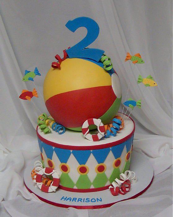 ball birthday beach birthday cakes birthday party ideas 2nd birthday ...