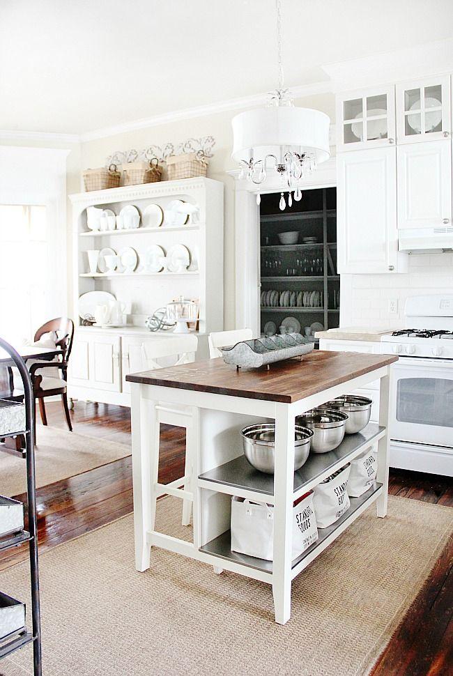 IKEA kitchen island...brilliant and inexpensive!!