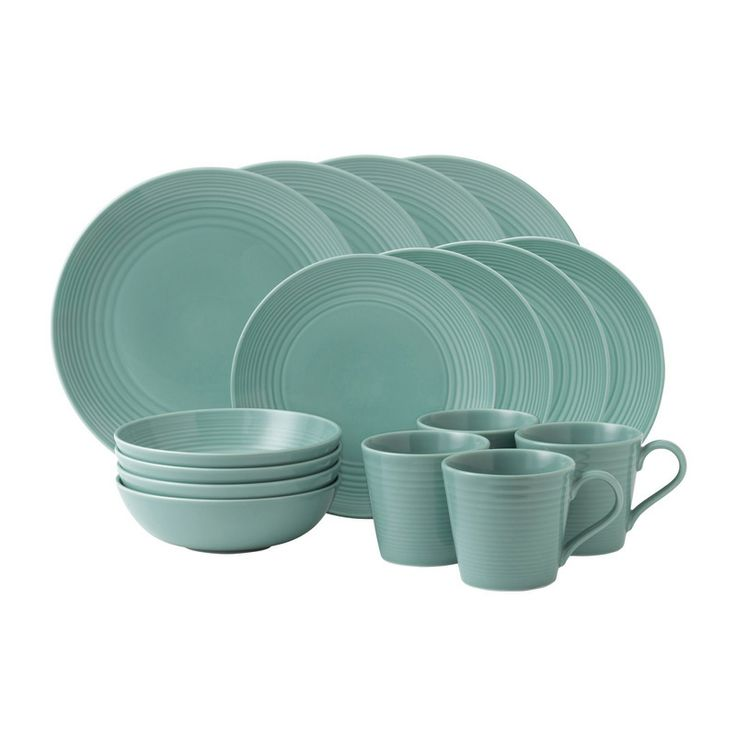 Gordon Ramsey Teal dinner plates