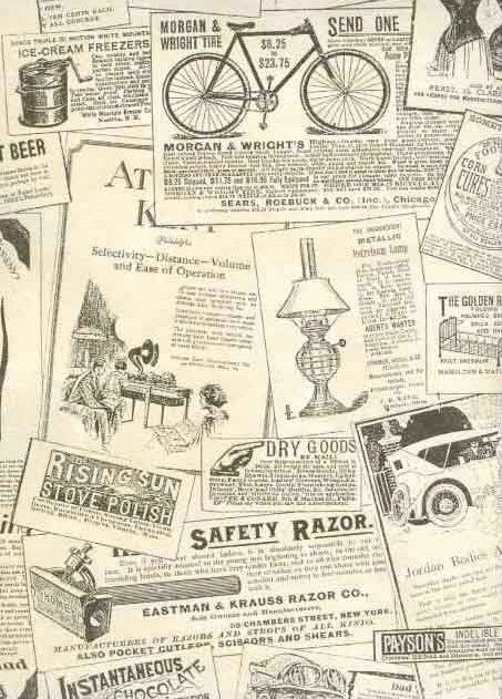 Vintage Wallpaper clippings for pantry