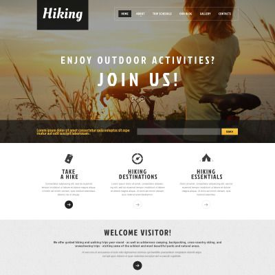 Hiking Club Promotion Parallax WordPress Template