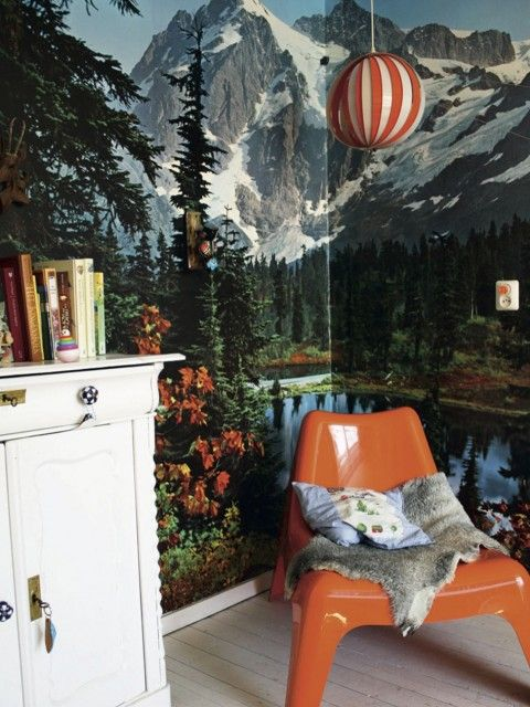Best 25 mountain wallpaper ideas on pinterest tree - Wallpapering around a curved corner ...