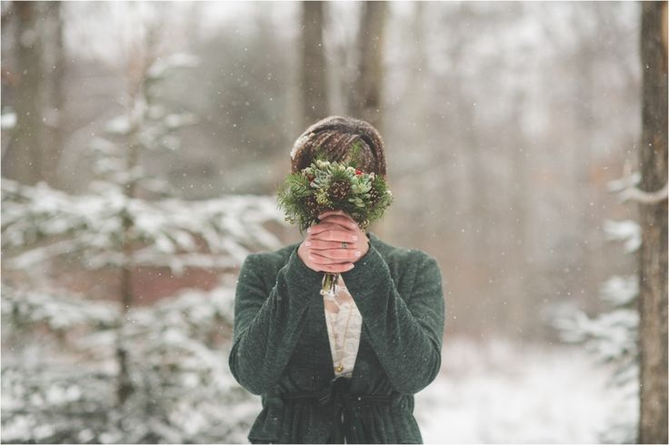 shawn + marine // intimate, forest elopement in the snow // poconos wedding photographer
