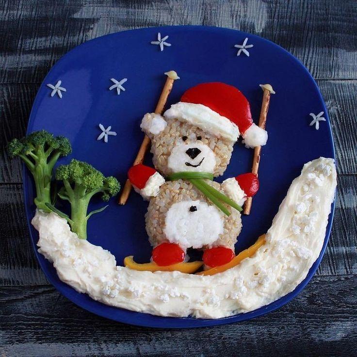 Даже такая скучная вещь, как обед, может превратиться в развлечение. Малыш точно не будет капризничать за столом, если еда будет выглядеть так.  #abbi_дети #рукоделие #хобби #креатив #handmade #идея #вдохновение #Abbigli #новогоднийдекор #рождество #новыйгод #food_art