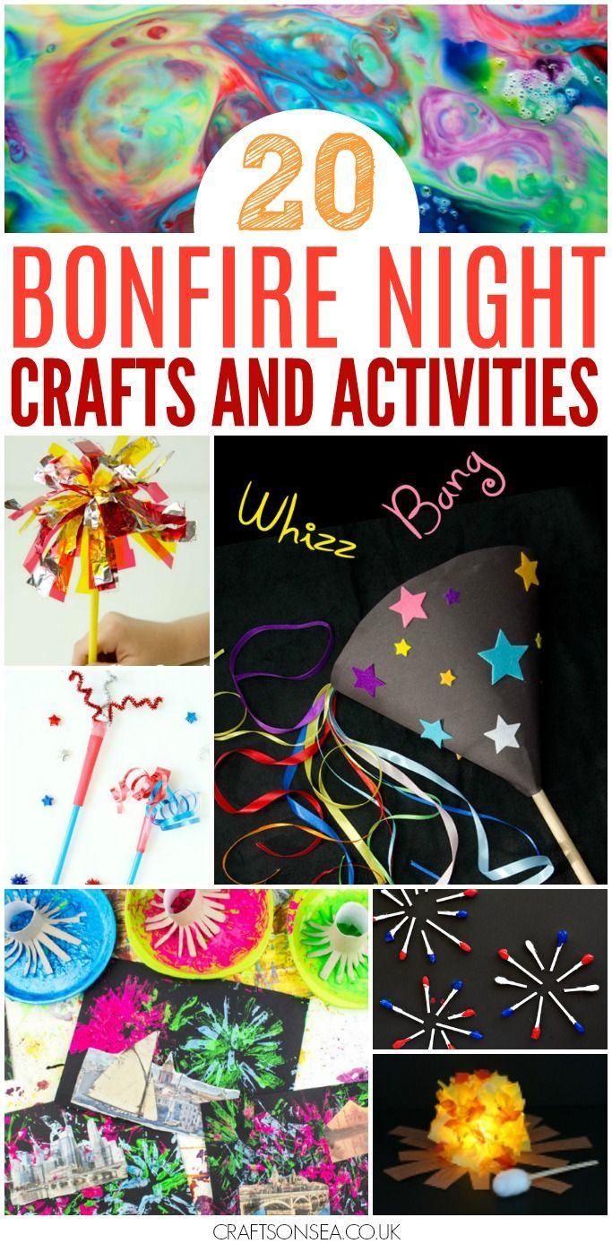 These fun Bonfire Night crafts and activities for kids are the perfect way to inspire young imaginations! Awesome hands on art projects, sensory play + food