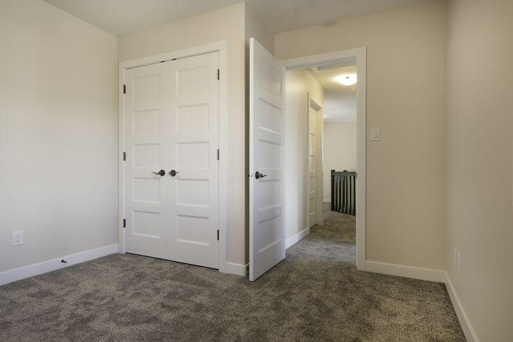 Bedroom with unique interior doors!