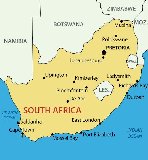 South Africa for Kids - facts and South Africa's attraction, geography, animals, food and the South African people