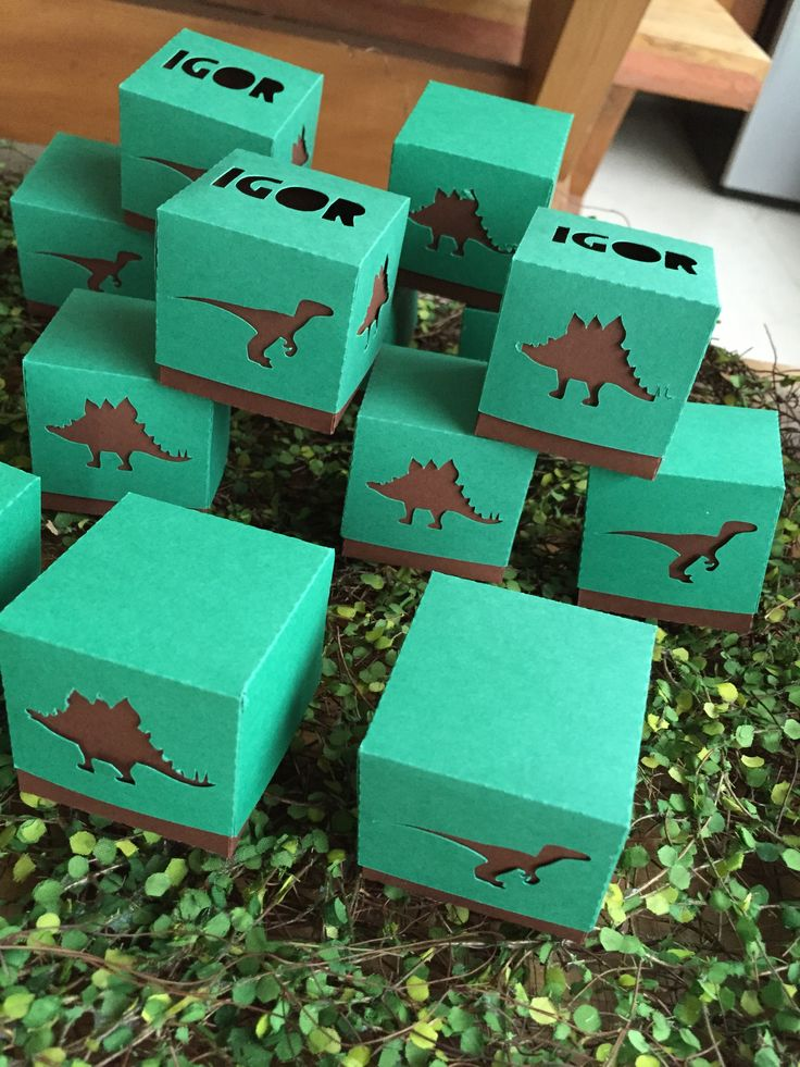 Caixas decoração festa dinossauro