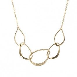 Hyperion Gold Five Link Orbiting Aura Necklace