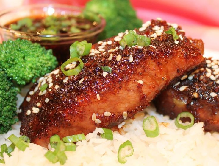 Boneless Pork Backribs (Pork on a Fork) With Asian Honey-Sesame Garlic-Ginger Dipping Sauce