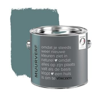 vtwonen krijt mat muurverf petrol blue 2,5 l   Muurverf kleur   Muurverf   Verf & verfbenodigdheden   KARWEI
