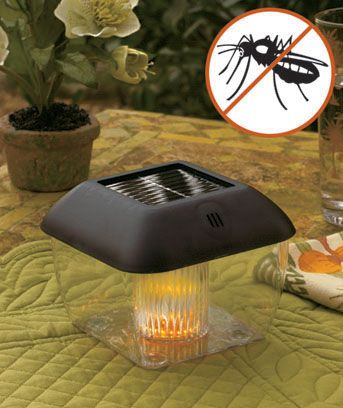 Rid your outdoor area of pesky mosquitoes with this cordless Mosquito Repellant Solar Light. While most light attract bugs, this weather-resistant light drives them away. Emitting sonic waves designed to repel bugs, this solar light also creates a warm,