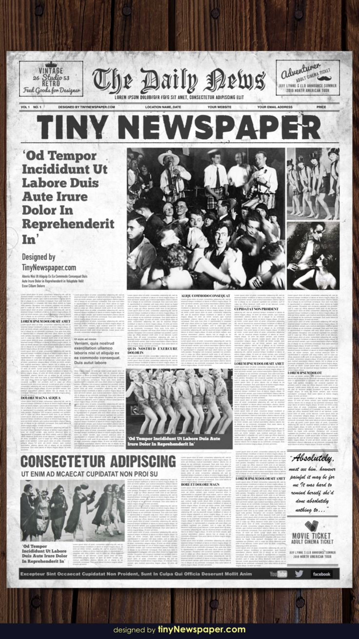 Old newspaper template word free