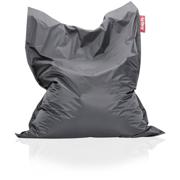 Fatboy Original Beanbag Chair ($199) ❤ liked on Polyvore featuring home, furniture, chairs, accent chairs, dark grey, bean-bag chair, bean bag, fatboy chair, beanbag furniture and fatboy