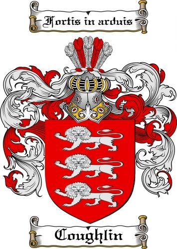 $7.99 Coughlin Coat of Arms Coughlin Family Crest Instant Download