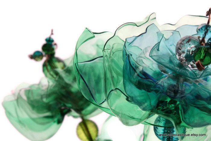 Seaglass Garden Stakes, Garden Decor, Green Blue, Set of 3, Winding Leaves, Beach Glass, Garden Art, Yard decor, Suncatcher by ArtePlastique on Etsy https://www.etsy.com/listing/171815053/seaglass-garden-stakes-garden-decor