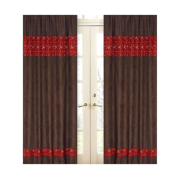 Create A Stylish Look With These JoJo Designs Wild West Collection Bandana  Window Panels. These Rod Pocket, Long Window Panels Come In A Set Of 2 And  Can Be ...