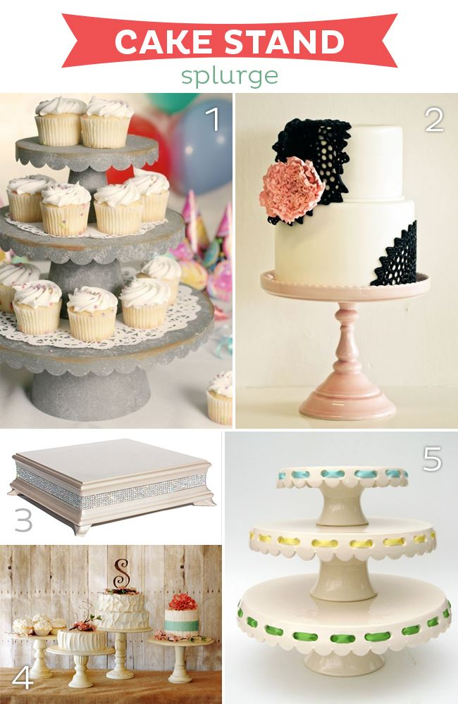 Cake Stand Splurges--15 fabulous cake stand splurges, bargains and diy from www.strawberrymommycakes.com