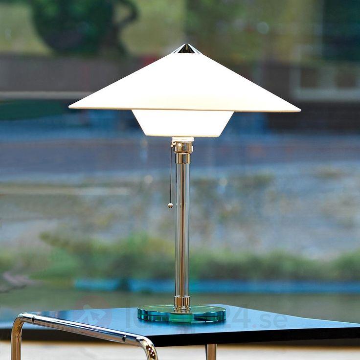Auktoriserad Wagenfeld-bordslampa baserad på originalet - kvalité och historia: tillverkad i Tyskland!