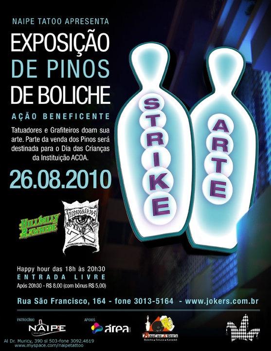 STRIKE ART - EXPOSIÇÃO DE PINOS DE BOLICHE