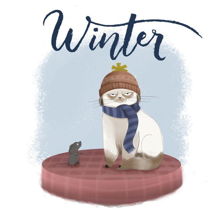 Winter - Digital Ilustration - Pen Brush Calligraphy - Lettering