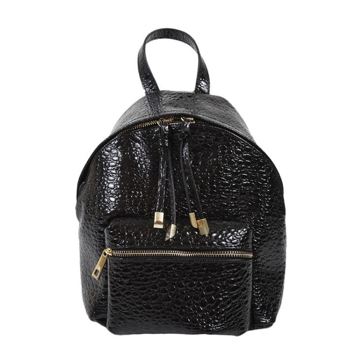 john-andy.com | JOHN-ANDY Μικρό Δερμάτινο Croc Backpack