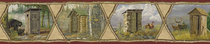 """Borders by Chesapeake Augustus Privy Collection Portrait 15' x 6"""" Scenic 3D Embossed Border Wallpaper"""