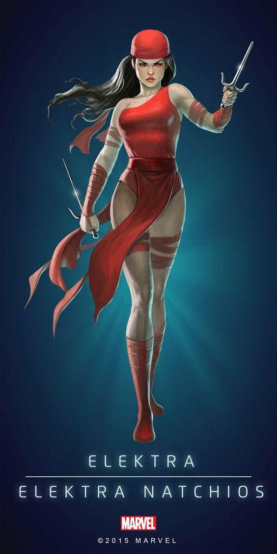 Elektra (Unkillable) | 4 Stars | Profile Face | Marvel PUZZLE QUEST